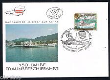 AUSTRIA 1 BUSTA PRIMO GIORNO FDC NAVIGAZIONE SUL LAGO NAVE 1989