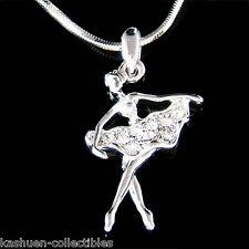 BALLERINA made with Swarovski Crystal The Nutcracker Ballet Dancer Necklace Xmas