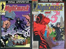 NIGHTMASK 1 & 2 MARVEL NEW UNIVERSE MINI SERIES 1986 NM