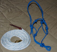 STIFF 4-KNOT HALTER, 14' LEAD ROPE FOR ANDERSON & PARELLI TRAINING