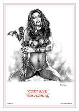 SEXY GOTH VAMPIRE ART PRINT!  Tom FLEMing