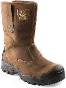 Buckler Boots Crazy Horse Brown Leather Waterproof Steel Toe Cap Midsole Riggers
