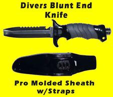 Scuba Dive Knife Blunt Stainless Steel Butt End Blade line cutter Sharp Serated