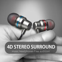 HIFI Super Bass Headset 3.5mm In-Ear Earphone Stereo Earbuds Headphone Wired Mic