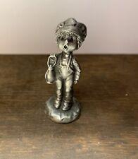 Hallmark, Little Gallery, Chiming In, Little Boy With Lantern, Pewter Figurine