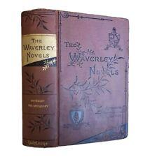 Waverley, The Antiquary Sir Walter Scott Antique Victorian Classic Historical Fi