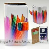 For OPPO Series - Abstract Feather Theme Print Wallet Mobile Phone Case Cover