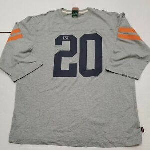 NWOT Vintage Chicago Bears NFL Nike Half Sleeve Gray T-Shirt 2XL New Without Tag