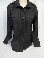 Buffalo David Bitton Womens Collared Zip/Button Jacket Charcoal US Size S NWT
