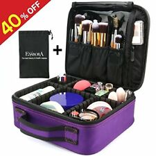 Makeup Bag  Portable Travel Cosmetic Case Organizer Storage Purple