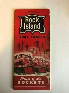 Rock Island Passenger Timetable 9/29/1946