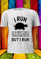 I Run I'm Slower Than Turtle Funny  T-shirt Vest Tank Top Men Women Unisex 1807