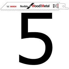 """5 Bosch Sabre Hojas de Sierra con movimiento alternativo S922HF 6"""" 150mm Madera + Metal Aleación Paletas"""