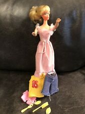 Vintage Sweet 16 Sixteen Barbie Doll~Pink Dress  #7796 Shirt~Shorts~Accessories