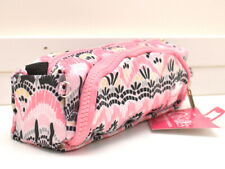Caboodles Pencil Me In Case Cosmetic Bag Makeup Pouch Pink Boho New!