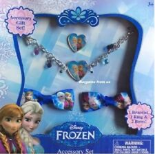 Disney Frozen Girl's  Necklace,  Ring and 2 Bows