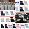 1/50/100 Elasticity Stretch Chair Cover Band with Buckle Slider Sashes Bow Decor