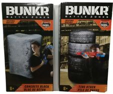 Bunker Battle Zones Inflatables x 2 Tire Stack and Concrete Block