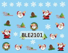 Nailart stickers décalcomanie ongles décorations de Noël sapins pommes de pin