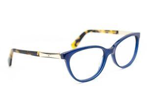 Kate Spade Eyeglasses Kassia 0CX Navy Blue/Gold/Tortoise Cat Eye Frame 51-16 135