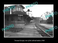 OLD 6 X 4 HISTORIC PHOTO OF NEWNAN GEORGIA THE RAILROAD STATION c1940