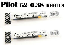5x Black Pilot G-2 Pen Refills Roller Gel 0.38mm Great Ink Clicker NEW Cheapest