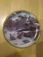 Bobwhites Plate The Game Birds of Owen J. Gromme Quail Danbury Mint Winter Pines