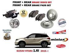 FOR SUZUKI VITARA 1.6i 2015 > FRONT + REAR BRAKE DISCS SET + DISC PADS KIT