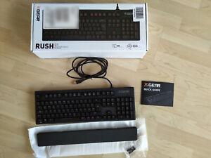 TOP-DE-QWERTZ Fnatic Gear Rush LED Pro (Mechanische Tastatur, Cherry MX Brown)