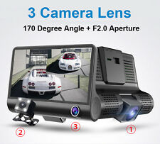 HDR Video Super Wide Angle Video Recorder 3 Cameras Parking Monitor Car Dash Cam