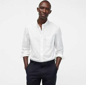 J Crew NEW Mens Size Large White Stretch Slim Button Down Shirt