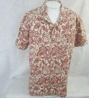 Solitude Men Hawaiian ALOHA shirt pit to pit 29 XXL camp floral luau tiki lounge