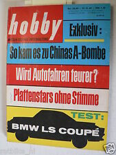 HOBBY 1964-24,TEST BMW LS COUPE,PILOTEN,FRANZ TAUSEND,CLIVE WAY,ELVA BMW FT 160