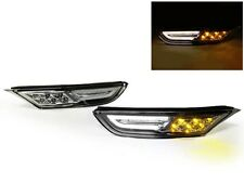 Amber/White LED Clear Front Bumper Side Marker Fit For 09-15 Nissan GTR GT-R R35