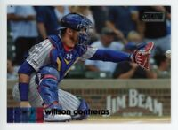 2020 Topps Stadium Club WILLSON CONTRERAS BLACK FOIL PARALLEL #291 Chicago Cubs