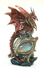 roter Drache Fantasy Figur mit LED, Eye of the Dragon red, 21 cm hoch
