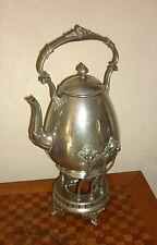 Ancien Samovar fontaine à thé Théière bouilloire en Métal Argenté circa 1900