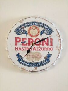 New retro vintage metal bottle top wall clock 30cm peroni