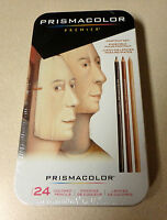 PRISMACOLOR PREMIER PORTRAIT SET of 24 COLORED PENCILS IN TIN Artist Quality NEW
