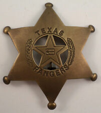 Texas Ranger Badge Pin Of The Old West Brass Metal Star 131