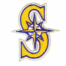 """Seattle Mariners Baseball MLB Iron On Patch Embroidered Team Logo 2.375"""" inch"""
