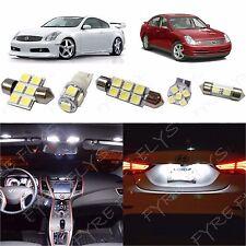 10x White LED lights interior package kit for 2003-2006 Infiniti G35 IG1W