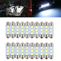 20X 36mm CANBUS Error Free 3 LED 5050 SMD 6418 C5W License Plate Dome Light Bulb