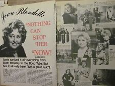 Joan Blondell, Three Page Vintage Clipping