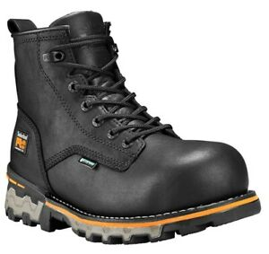Timberland PRO Men's Boondock Plain Toe 6'' Waterproof Composite Toe Boots: 10.5