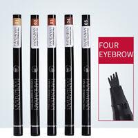 Microblading Tattoo Eyebrow Liquid Ink Pen Waterproof 4 Fork Pencil Brow Defin B