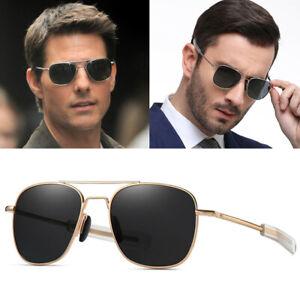 Classic Military Aviators Polarized Men's Sunglasses Pilot Retro Driving Glasses