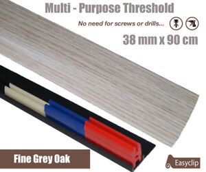Fine Grey Oak Laminate Threshold 38mm x 0.90mtr Multi-Height and Pivot