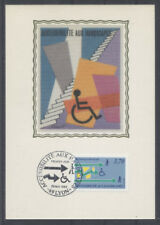 FRANCE FDC - 2536 5 ACCESSIBILITE AUX HANDICAPES - 28 Mai 1988 - LUXE sur soie
