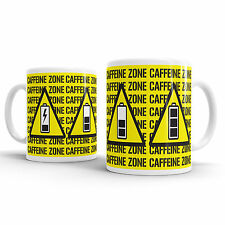 Caffeine Zone Novelty Office Coffee Mug Gift Tea Cup Present